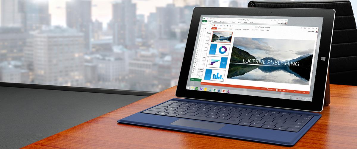 Microsoft Surface 3  is op voorraad