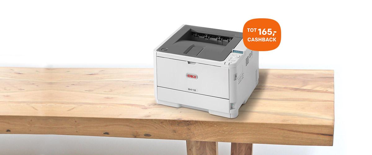 Tot wel 165,- cashback op OKI printers