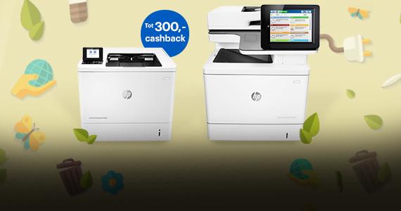 Tot 300,- inruil cashback op HP printers