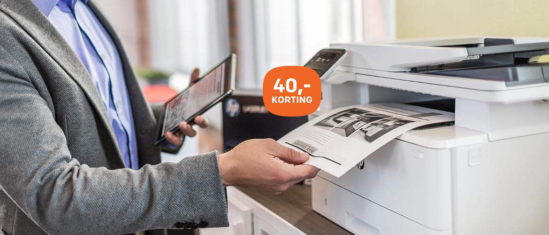 40,- korting op HP LaserJet Pro modellen