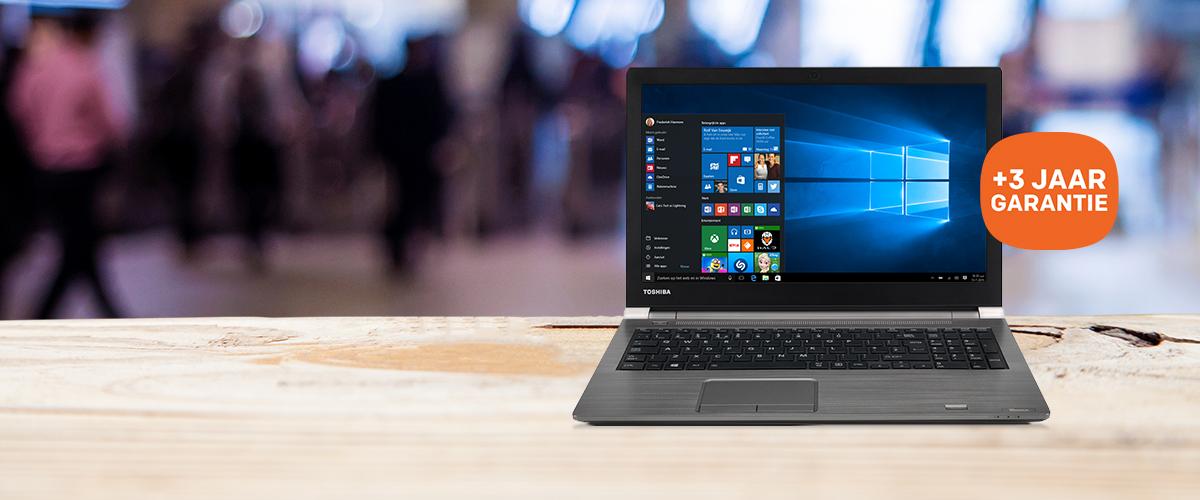 Toshiba notebook + GRATIS 3 jaar NBD OnSite garantie