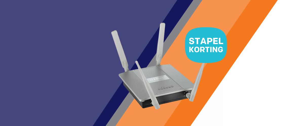 Stapel D-Link access points en vang korting