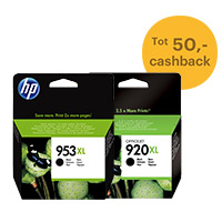 Tot 50,- cashback op originele HP inktcartridges