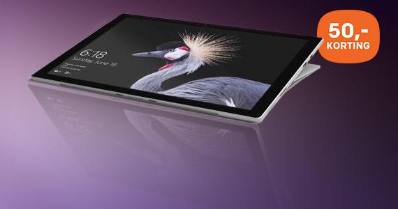 50,- korting op Microsoft Surface Pro met accessoire