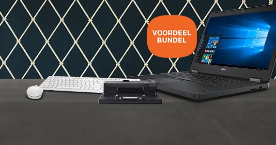 Dell notebook met GRATIS docking station & toetsenbord & muis