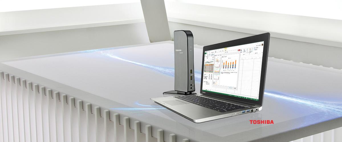 GRATIS Dynadock bij Toshiba laptops