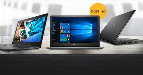 Tot 95,- korting op Dell laptops