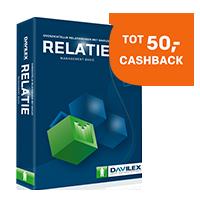 Tot wel 50,- cashback bij Davilex softwarepakketten.