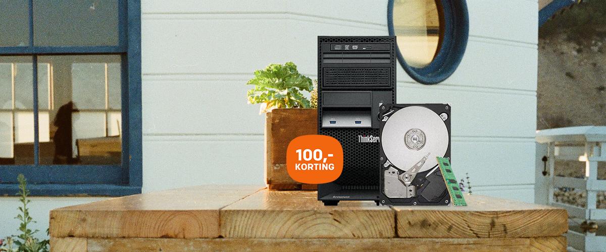 100,- korting op de Lenovo TS140 bundel