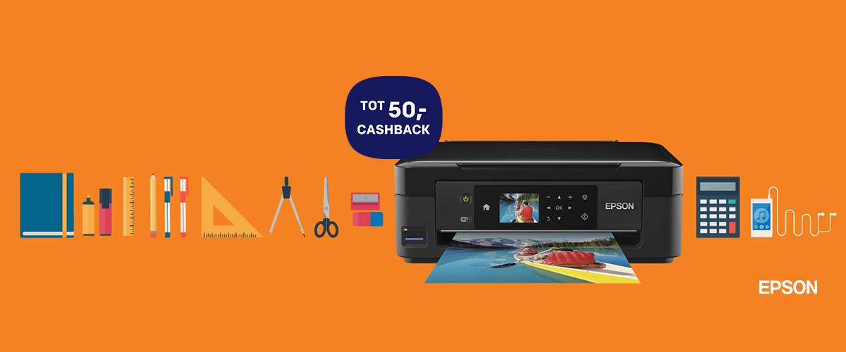 Tot 50,- cashback op Epson printers