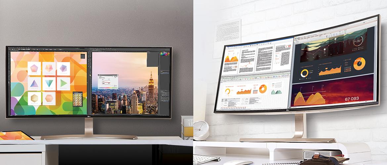 Professionele LG curve & UltraWide monitoren