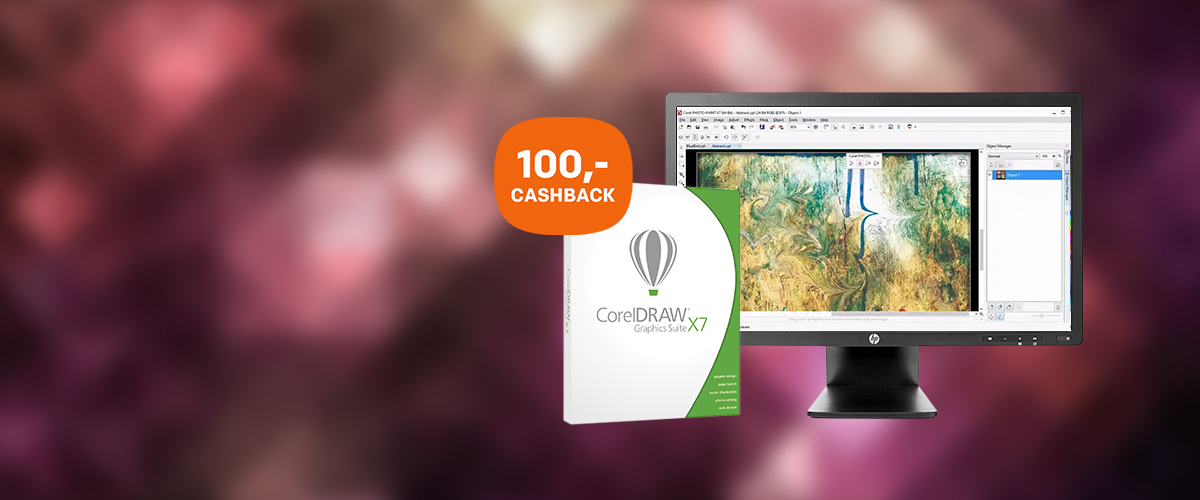 100,- retour bij CorelDraw Graphics  Suite X7