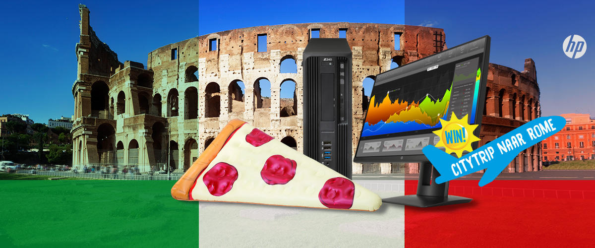 GRATIS pizzapunt luchtbed t.w.v. 29,95 bij HP desktops en HP workstations