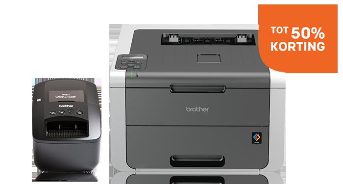 Tot 50% korting op Brother printers en scanners