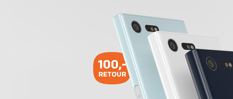 Koop nu en ontvang 100,- cashback op de Sony Xperia X Compact