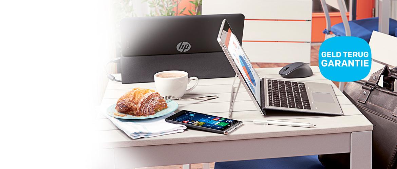 Geld terug garantie op de HP Elite x2 2-in-1 en x3 3-in-1 en HP notebooks