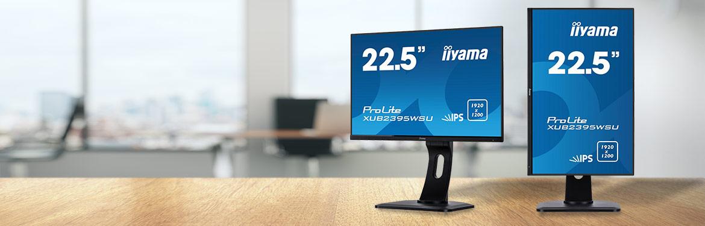 """De zakelijk iiyama ProLite 22.5"""" monitor met scherp beeld"""