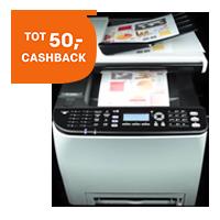 Cashback bij Ricoh kleurenprinters, OP=OP.