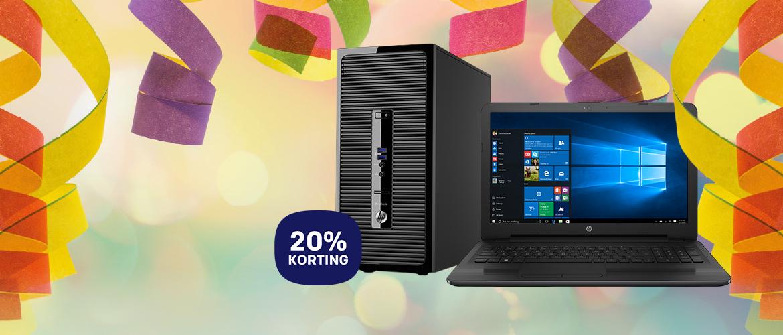 20% carnavalskorting op HP producten