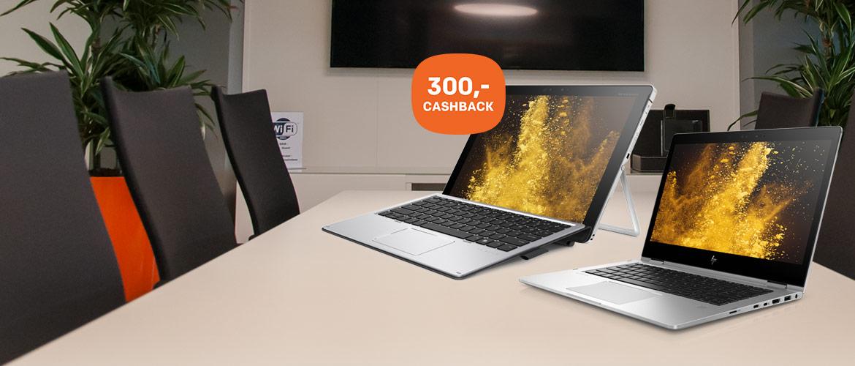 300,- cashback op HP Premium convertible notebooks