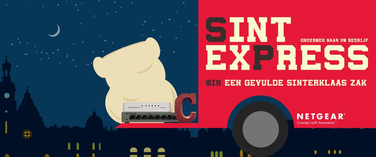 Sint NETGEAR deelt chocolade-letters uit