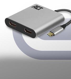 Bekijk de nieuwe USB-C producten van ACT