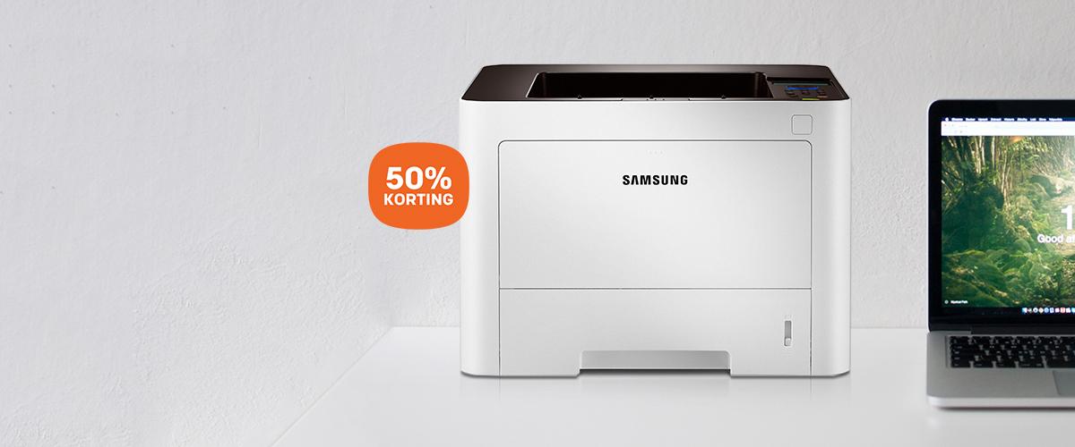 50% korting op Samsung ProXpress laserprinter