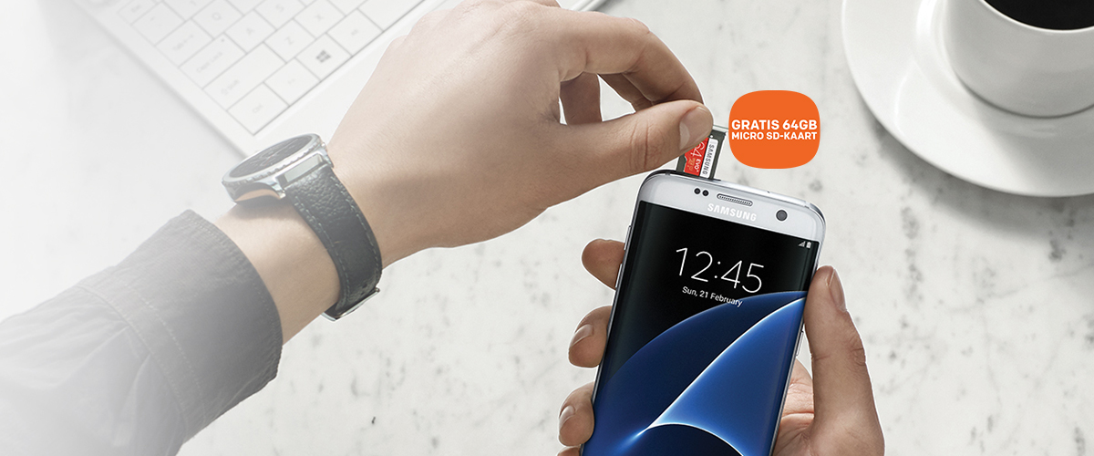 Samsung Galaxy S7 en S7 Edge met GRATIS micro SD-kaart