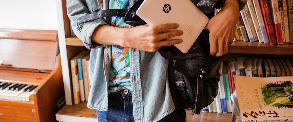 Nieuwe stijlvolle HP tassen + GRATIS muis