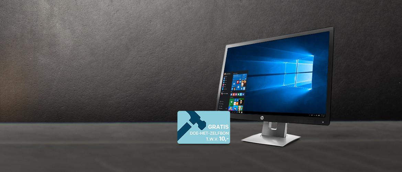 HP monitoren in prijs verlaagd + GRATIS Praxis cadeaukaart t.w.v. 10,-