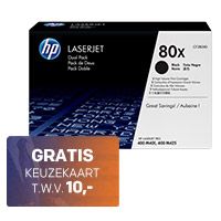Tot 100,- cashback op HP toners + GRATIS keuze cadeaukaart