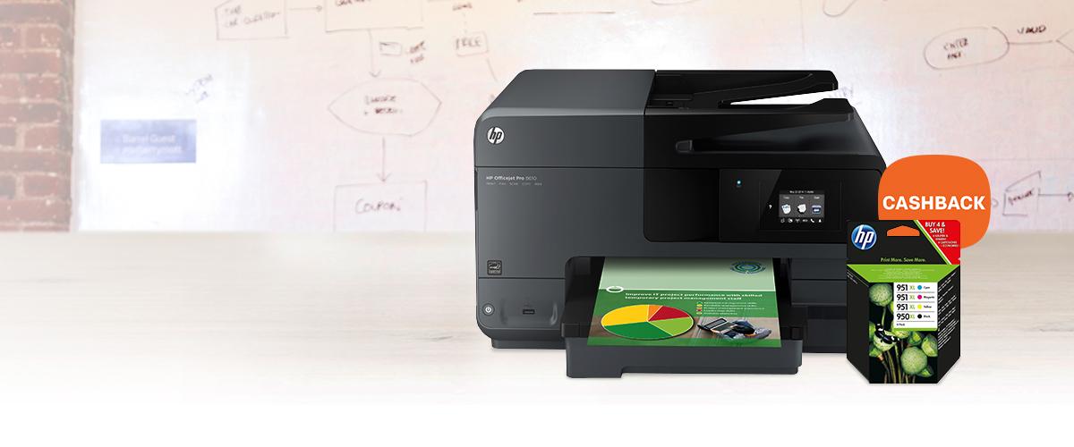 Cashback op HP Officejet Pro printers
