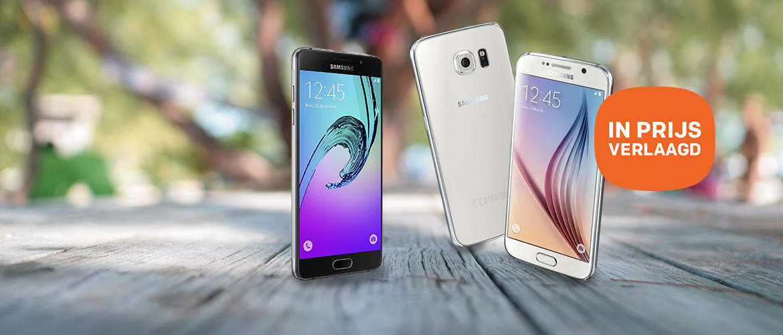 Samsung Galaxy smartphone prijsverlaging