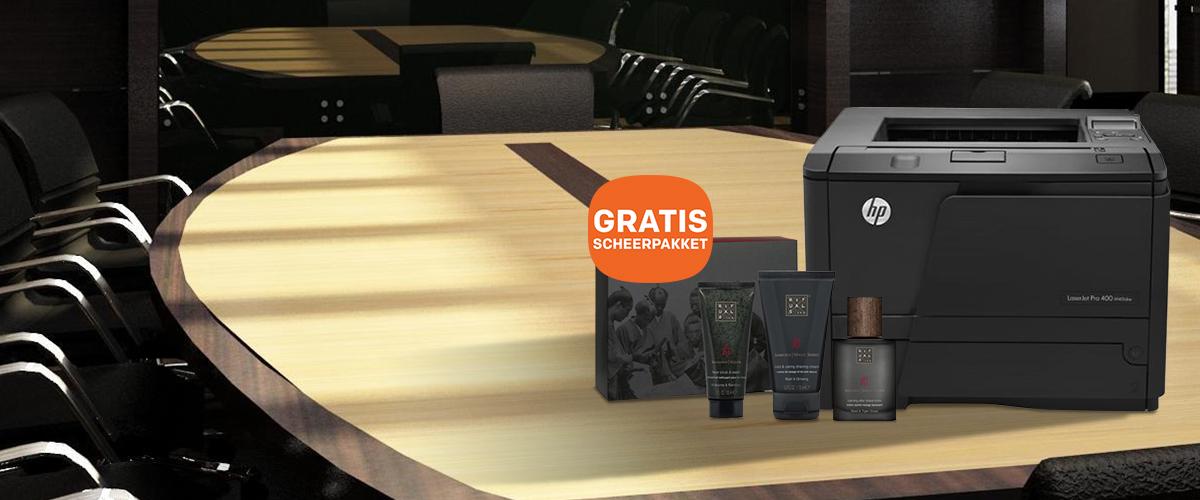HP LaserJet printer + Gratis Rituals scheerpakket