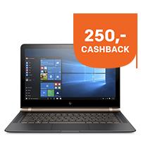 250,- cashback op HP Elite x2, Folio en Spectre Pro t/m 28 februari 2017