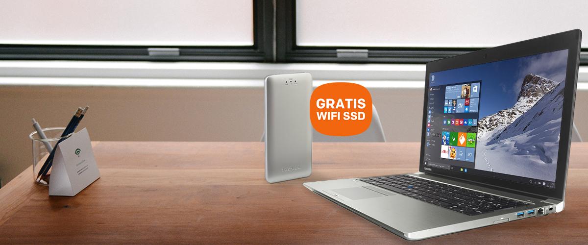 GRATIS draadloze SSD bij uw Toshiba laptop