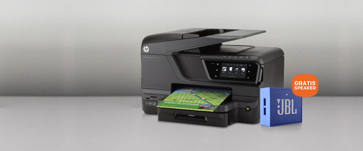 GRATIS draadloze JBL speaker t.w.v. 29,- bij HP printer
