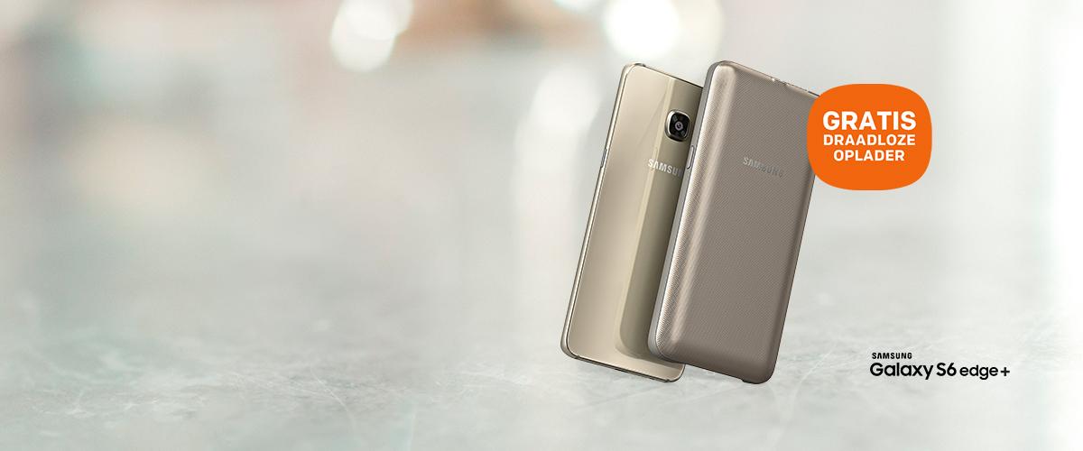 GRATIS draadloze oplader bij Galaxy S6 Edge+