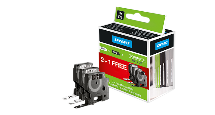 2+1 GRATIS DYMO D1 Tapes