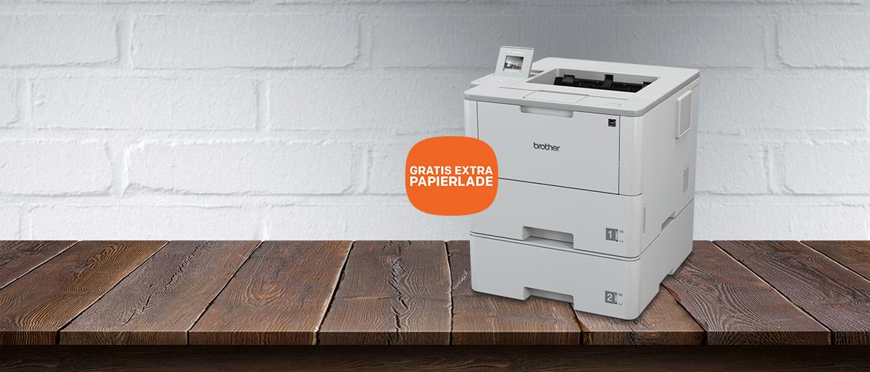 GRATIS papierlade bij Brother printers