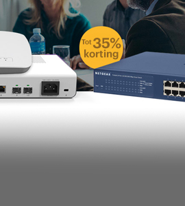 NETGEAR: tot 35% korting op switches, access points en routers