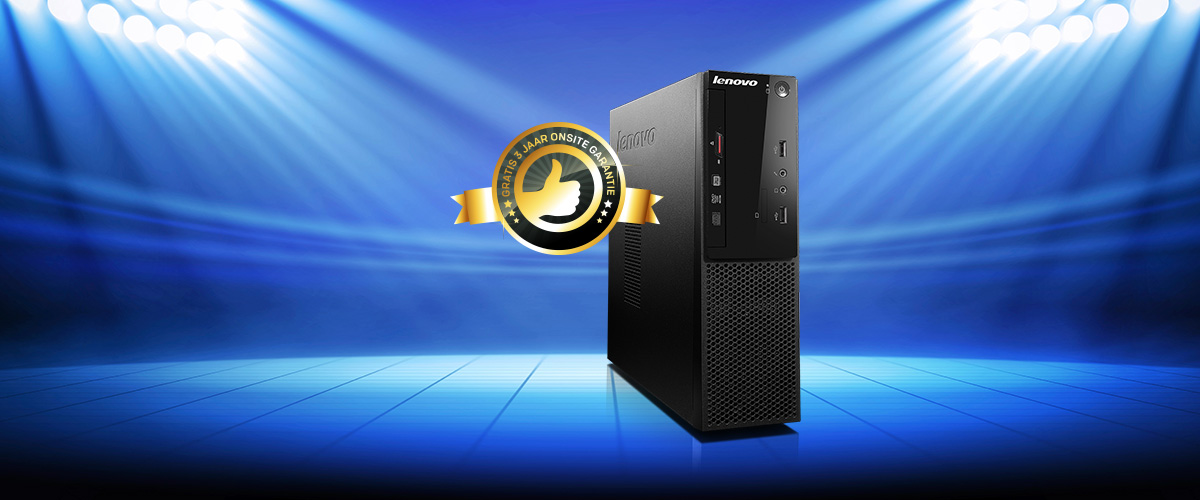 3 jaar On-site garantie bij de Lenovo S500