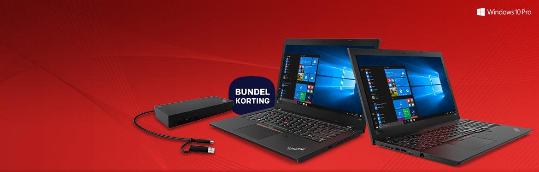 Keuze uit één van de twee laptops in combinatie met docking station.