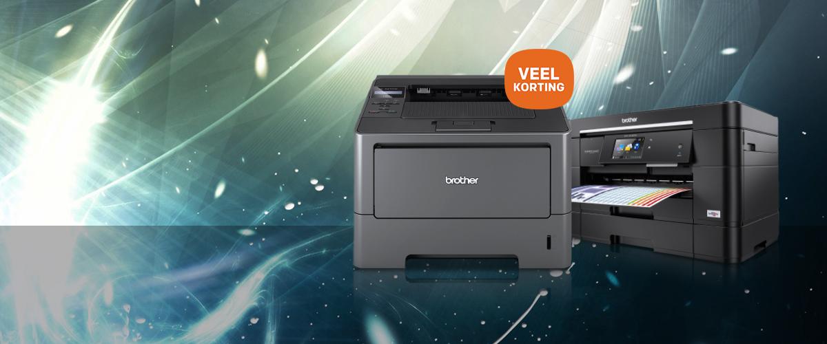 Heel veel korting op Brother printers en scanners
