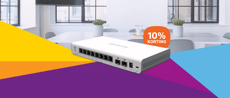 Tot 10% korting op NETGEAR netwerkproducten