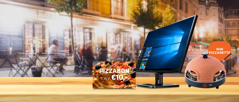 GRATIS Pizzabon bij iiyama monitor