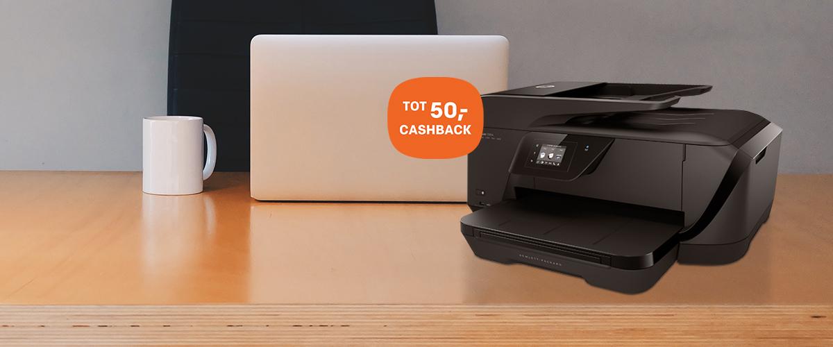 Tot 50,- cashback op HP Officejet A3 printers