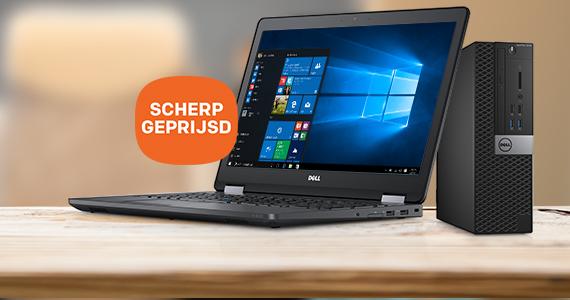 Hoge korting op Dell laptops en pc's