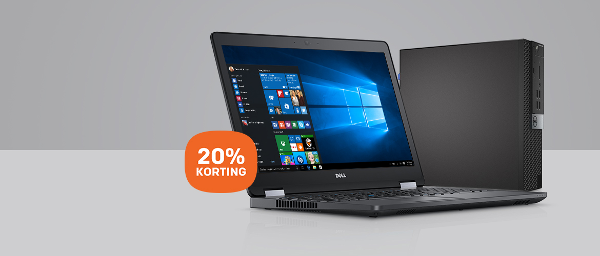 Koop nu de Dell OptiPlex pc of Latitude laptop met MEGA korting