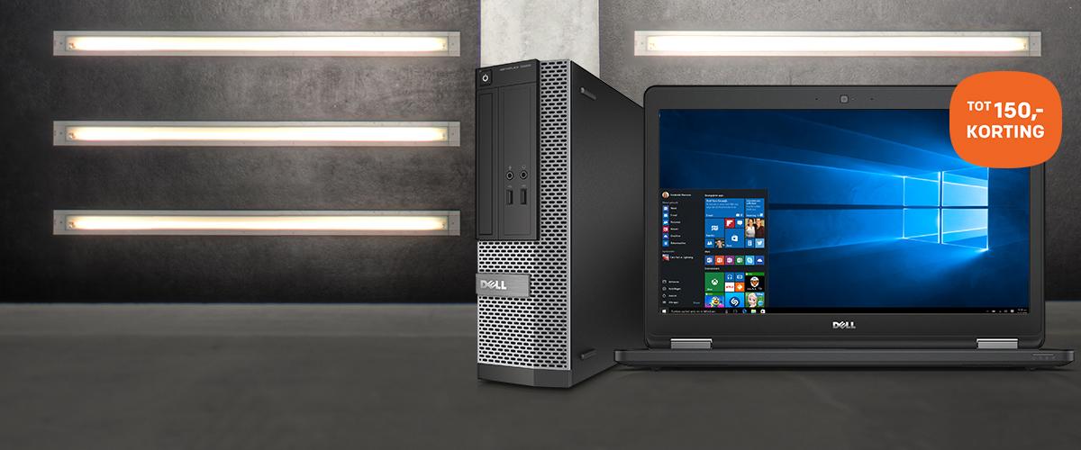 Tot 150,- korting Dell notebooks en pc's